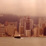 Hong Kong - HK Central - HK Island, seen from Kowloon with two crossing Star Ferries