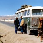 China - Tibet - The bus out of Tibet to Golmud, at an altitude of 5000 metres