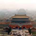 China - The Forbidden City in Beijing, viewed from Jingshan Hill