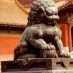 China - Beijing - Guarding Lion in the Forbidden City