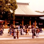 Japan - Tokyo - Meiji Shinto Shrine altar. The park and the buildings are dedicated to the Meiji Emperor who started the modernisation process in Japan, in the middle of the 19th century.