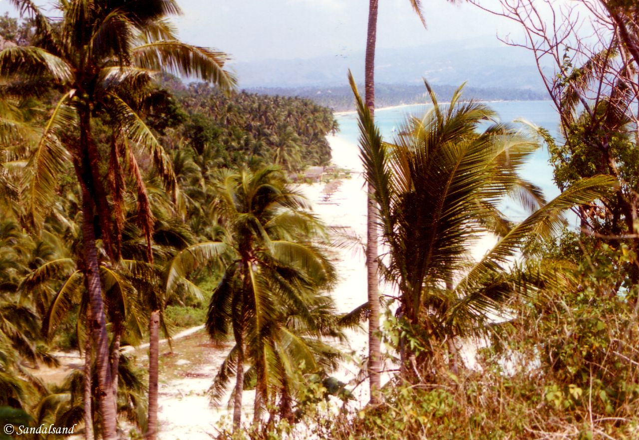 Philippines - White Beach on Boracay, view to south