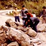 Taiwan - Taroko Gorge - Not only did many lives get lost during the construction of the prestigious road project in the Taroko Gorge, but rockslides still occur.