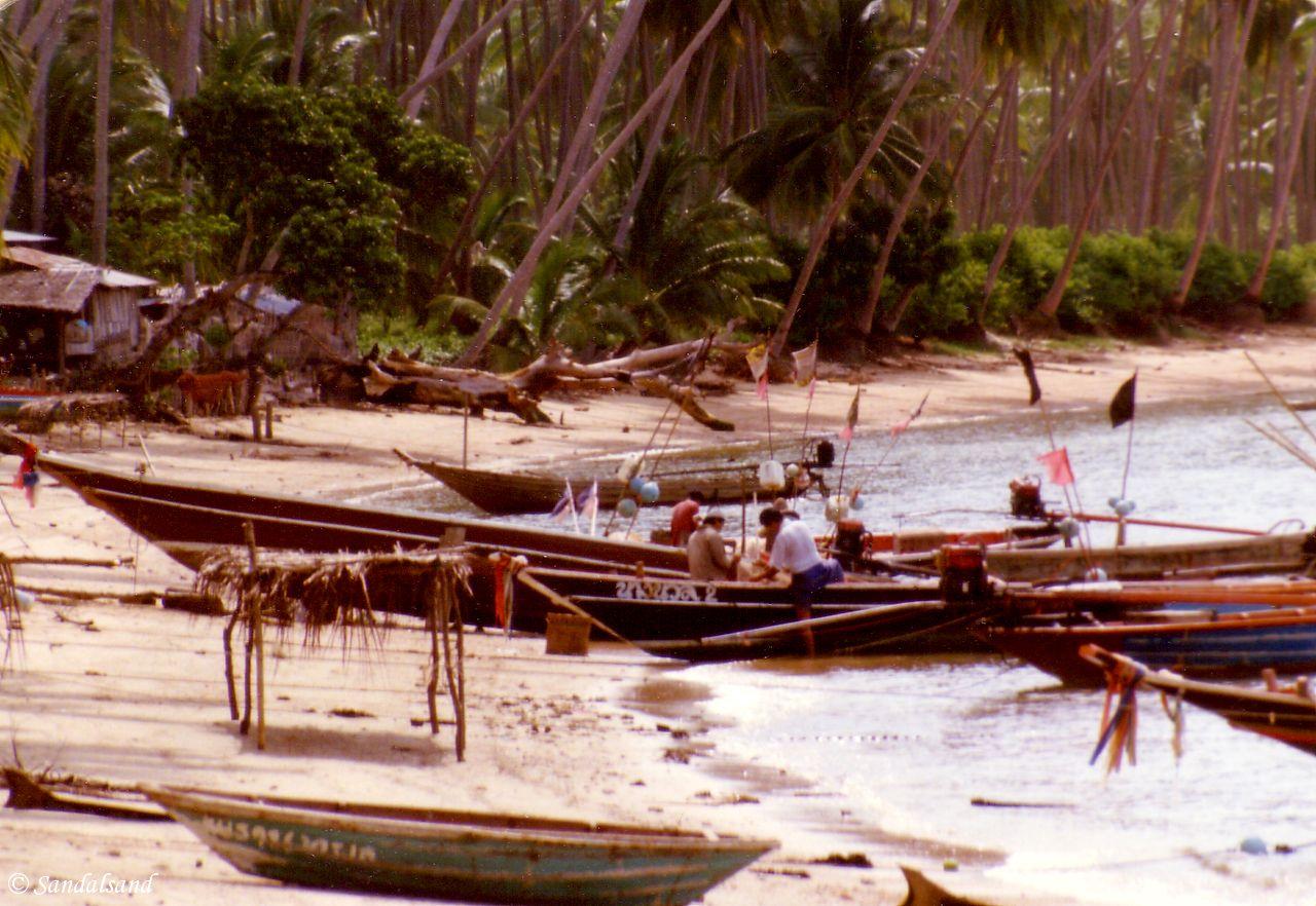 Thailand - Beach boats on Koh Samui