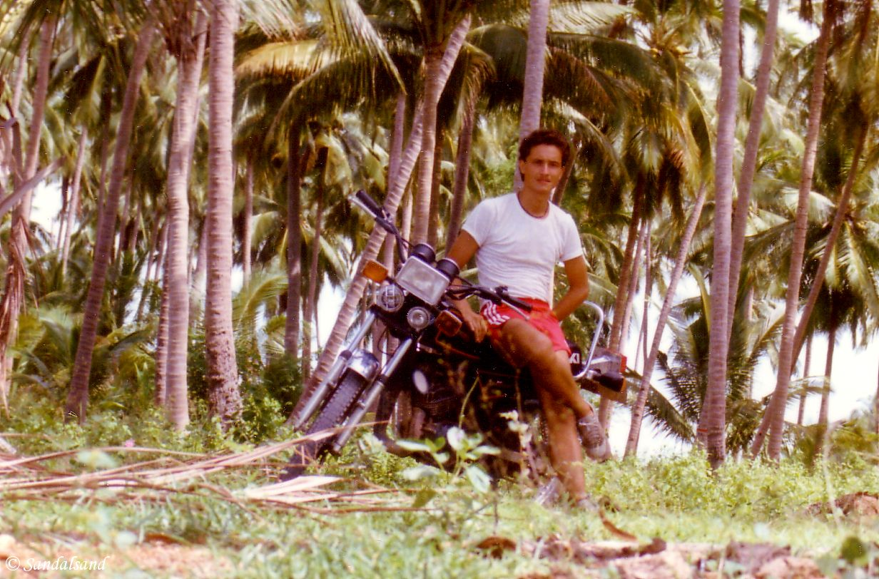 Thailand - Koh Samui - 1985 - Picture of Bård Humberset, the author of Sandalsand