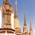 Thailand - Stupas at the Grand Palace, Bangkok