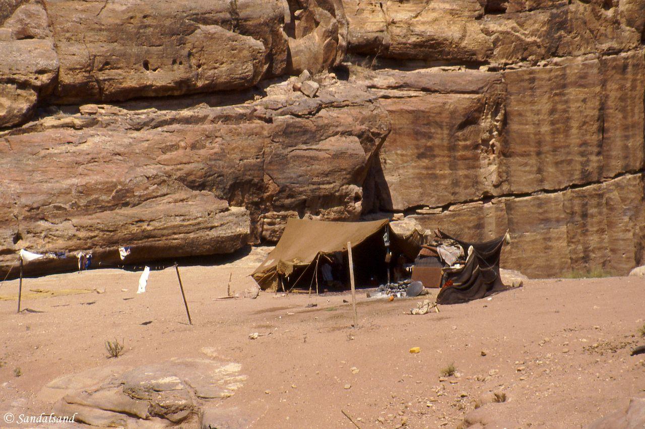 Jordan - Petra - Beduuin tents in a side valley