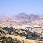 Jordan - Petra - The entrance is around the centre of the picture