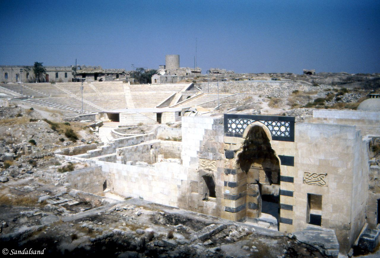 Syria - Aleppo - The Citadel - View towards the theatre