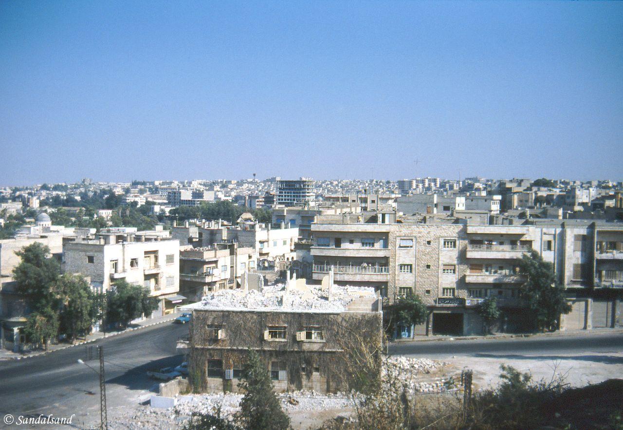 Syria - Hama - Bullet ridden houses