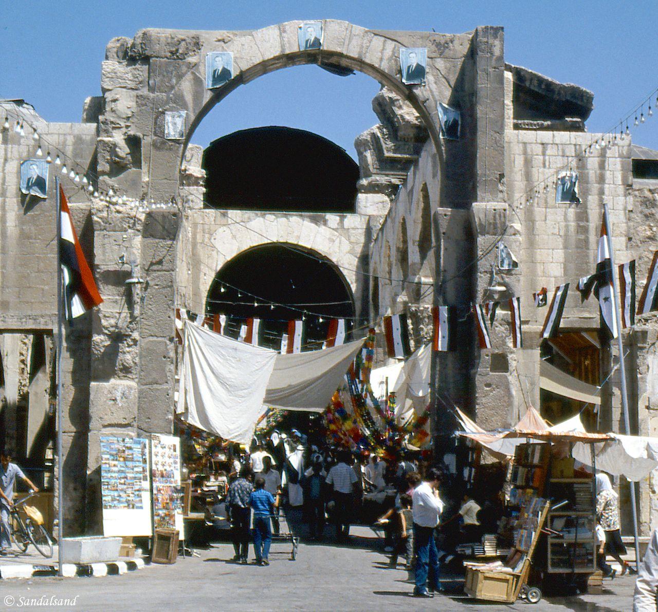 Syria - Damascus - Trajan Gate entrance to souq