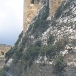 Syria - Krak des Chevaliers - Inner wall and moat