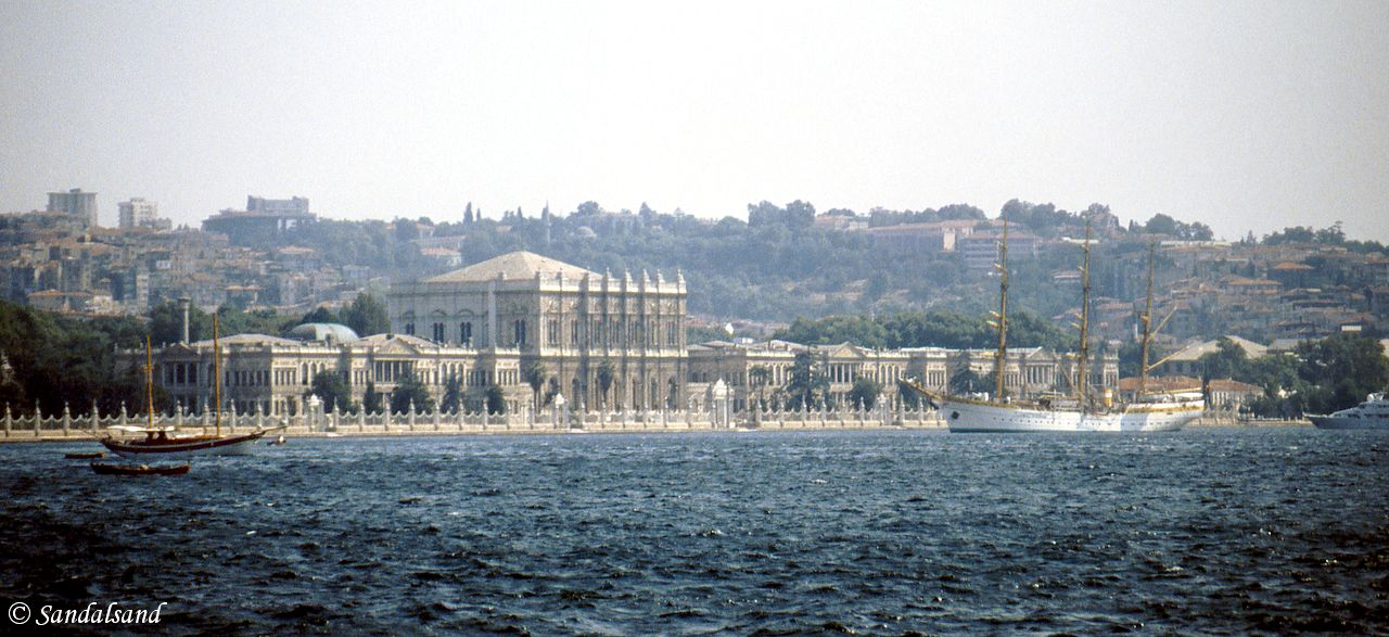 Turkey - Istanbul - The Dolmabahce Palace and Australian student ship