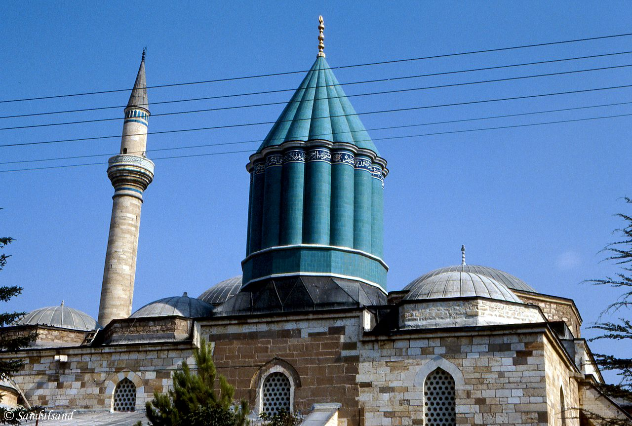 Turkey - Konya - The roof of the Nevlana Mosque