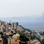 Turkey - Istanbul - From the Galata Tower north on the Strait of Bosphorus.
