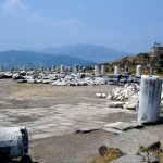 Turkey - Bergama - Site of the Trajan temple in Pergamon
