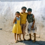 "Turkey - Göreme - Three little girls followed and were able to ask in English: ""What's your name?"""