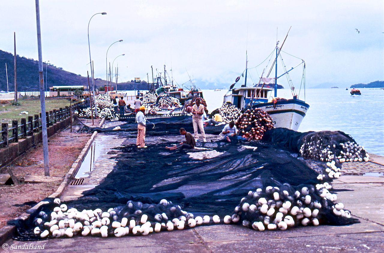 Brazil - Angra dos Reis - Fishing nets in harbour