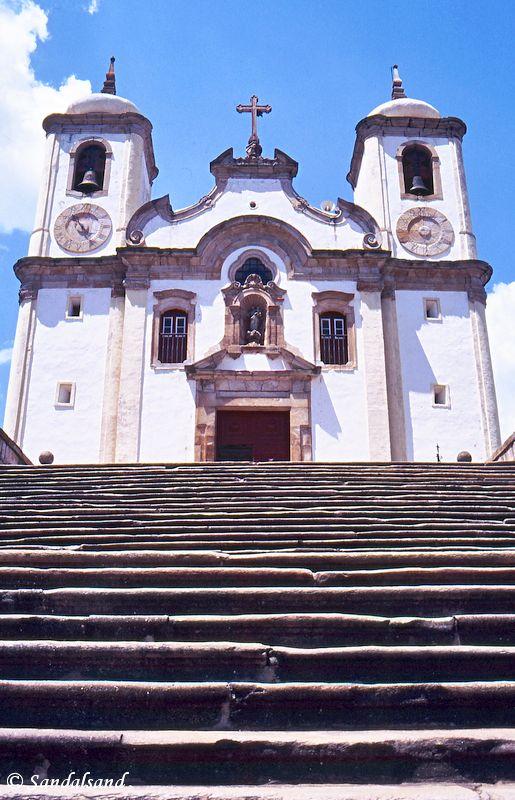 Brazil - Ouro Preto - church and steps
