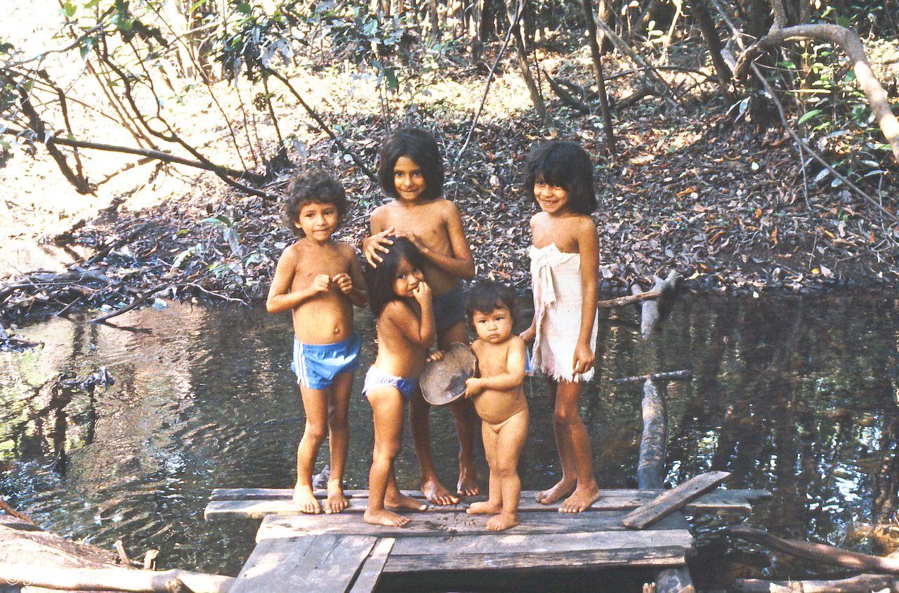 Brazil - Amazonas safari - Children in the Amazon jungle