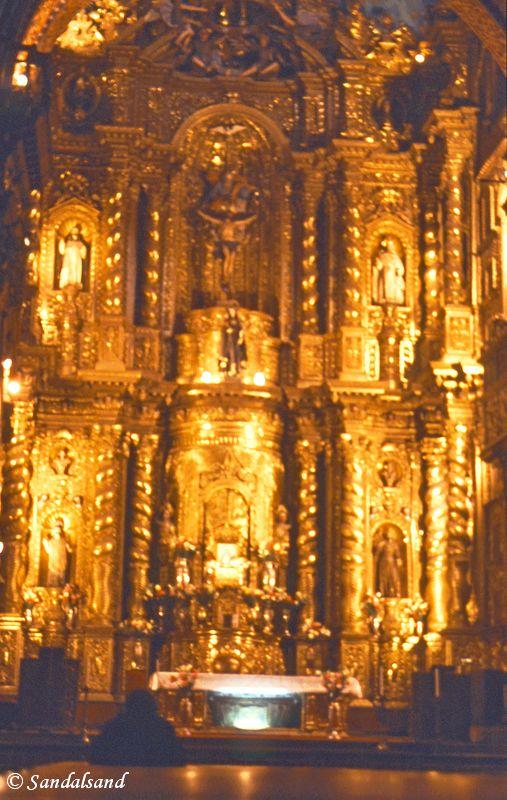 Ecuador - Church interior in Quito