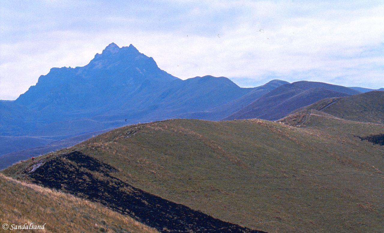 Ecuador - View of Pichincha volcano near Quito