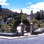 Ecuador - The pleasant plaza in Guano