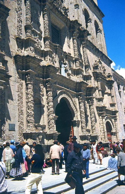 Bolivia - La Paz - Entrance to San Francisco church