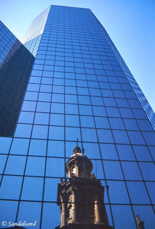 Chile - Santiago - Plaza de Armas - Catedral Metropolitana de Santiago and office building