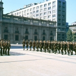 Chile - Santiago - Soldiers parading in front of La Moneda Presidential Palace