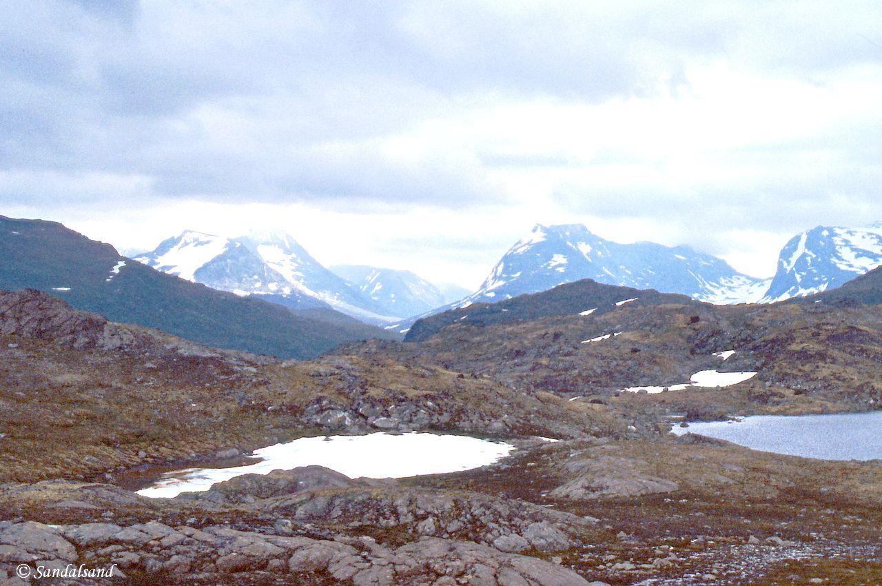 Oppland - Jotunheimen - Enden av Langvatn og østover