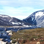 Norway - Jotunheimen - Across a stream at the mouth of Bessvatn lake
