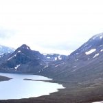 Norway - Jotunheimen - Russvatnet, the trail to Memurubu, mountains south of Gjende