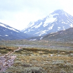 Oppland - Jotunheimen - The valley of Visdalen with the peaks of Uradalstindane straight ahead