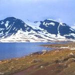 Norway - Jotunheimen - From snow to grass at Langvatnet