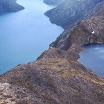 Norway - Jotunheimen - The postcard view of Besseggen with the lakes of Gjende and Bessvatn