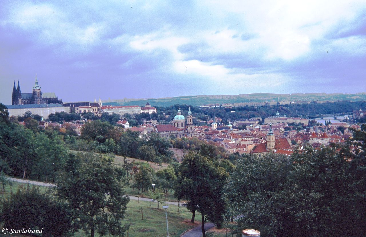Czechoslovakia - Praha (Prague) - Hradcany Castle seen from Petřín hill