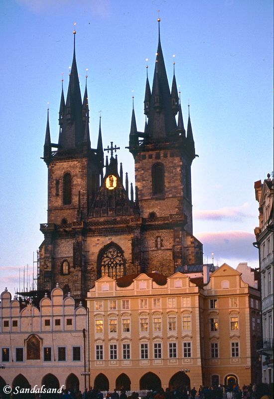 Czech Republic - Praha (Prague) - Staromestske namesti - Church of Our Lady before Týn