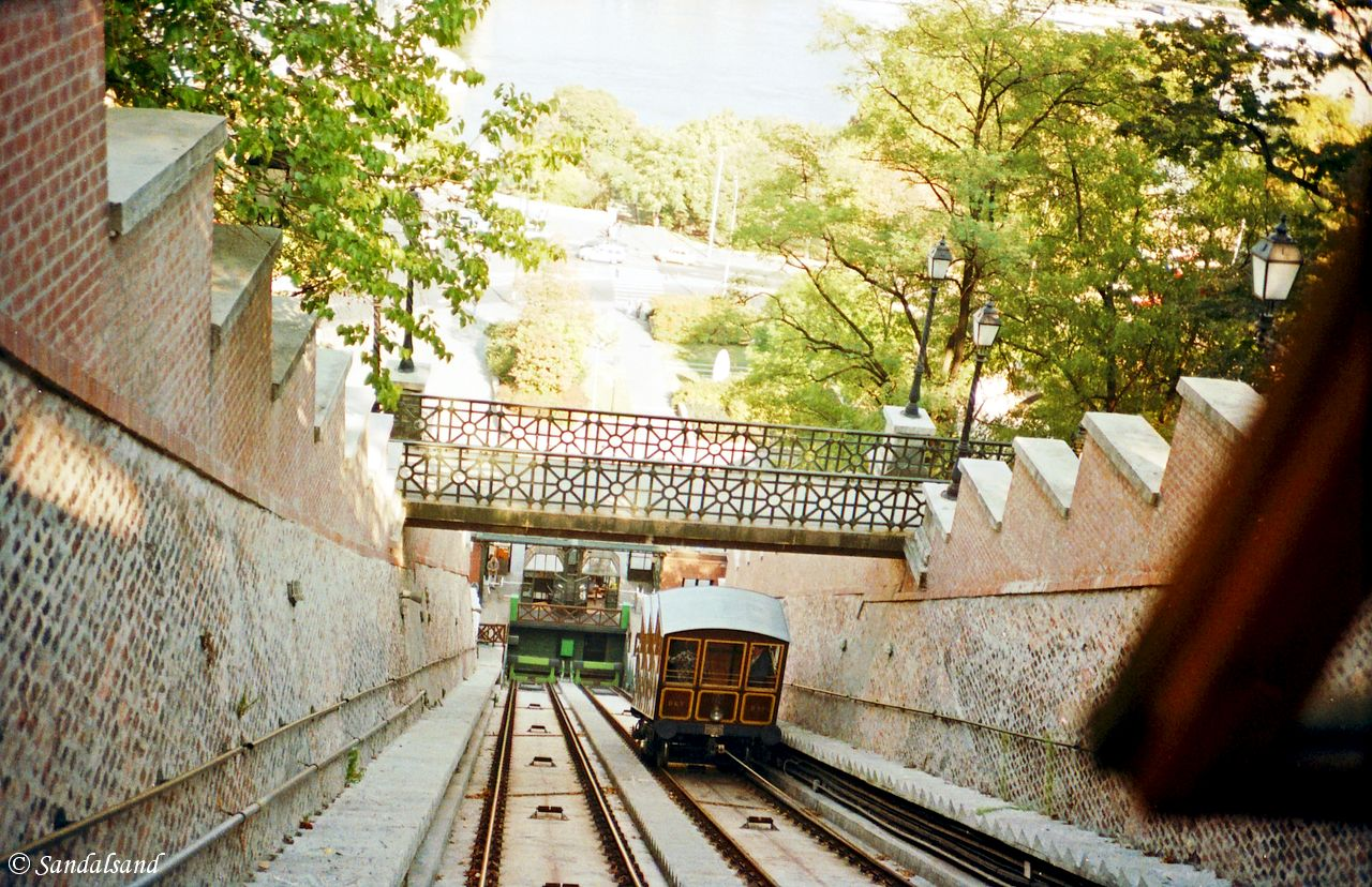 Hungary - Budapest - Funicular up from the Danube River