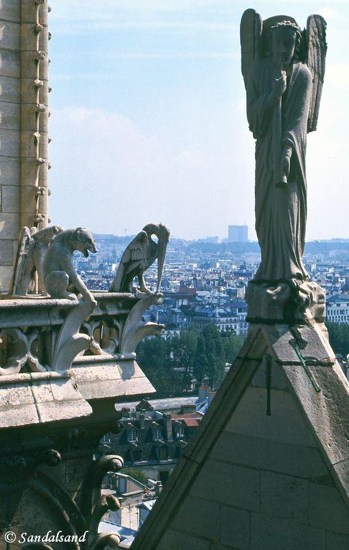 France - Paris - Rooftop demons on Notre Dame
