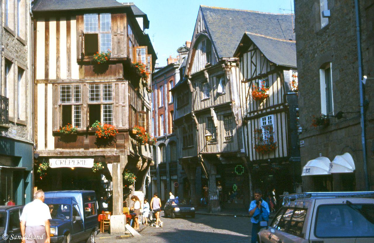 France - Dinan street view