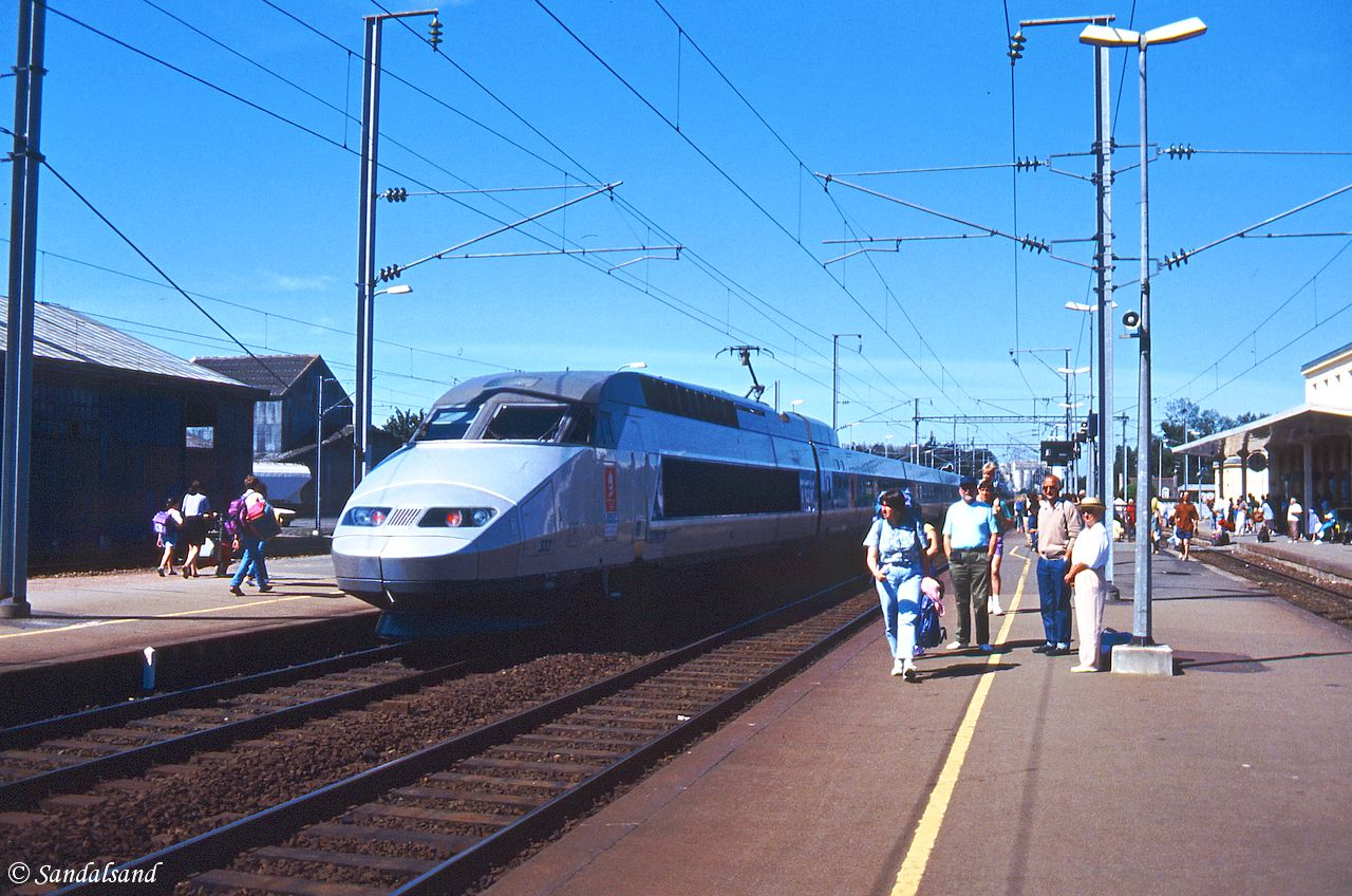 France - Pontorson - TGV train