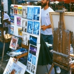 France - Paris - Works of artists on the Montmartre