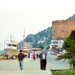 Turkey - Alanya - The Red Tower and the beach promenade