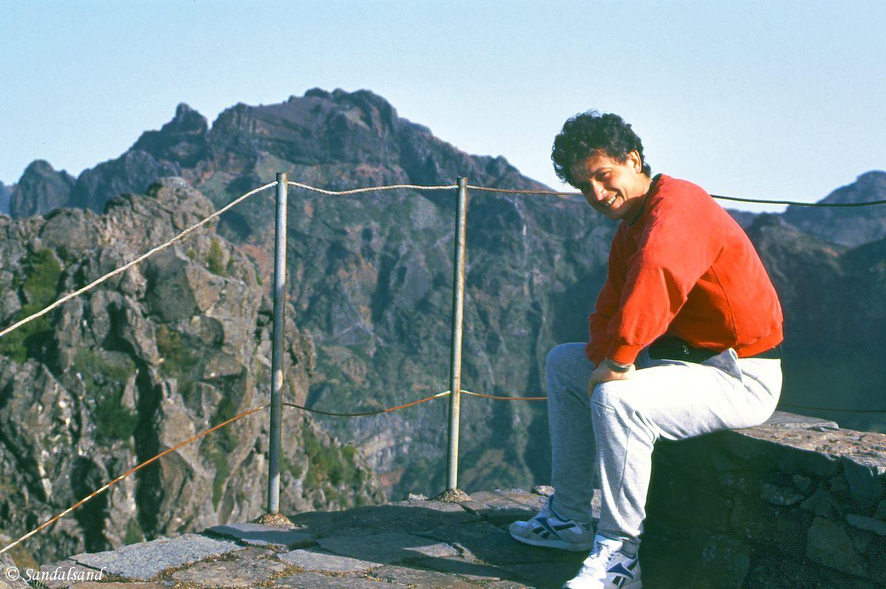 Portugal - Madeira - Pico do Arieiro - 1994 - Picture of Bård Humberset, the author of Sandalsand