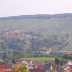 France - Champagne - View from the town of Châtillon-sur-Marne