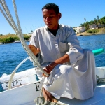 Egypt - Aswan - On board a felucca on the river Nile