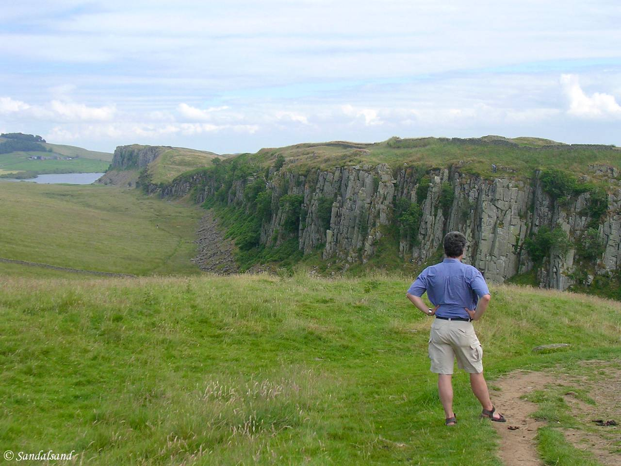 England - Hadrian's Wall - Steel Rigg - 2005 - Picture of Bård Humberset, the author of Sandalsand