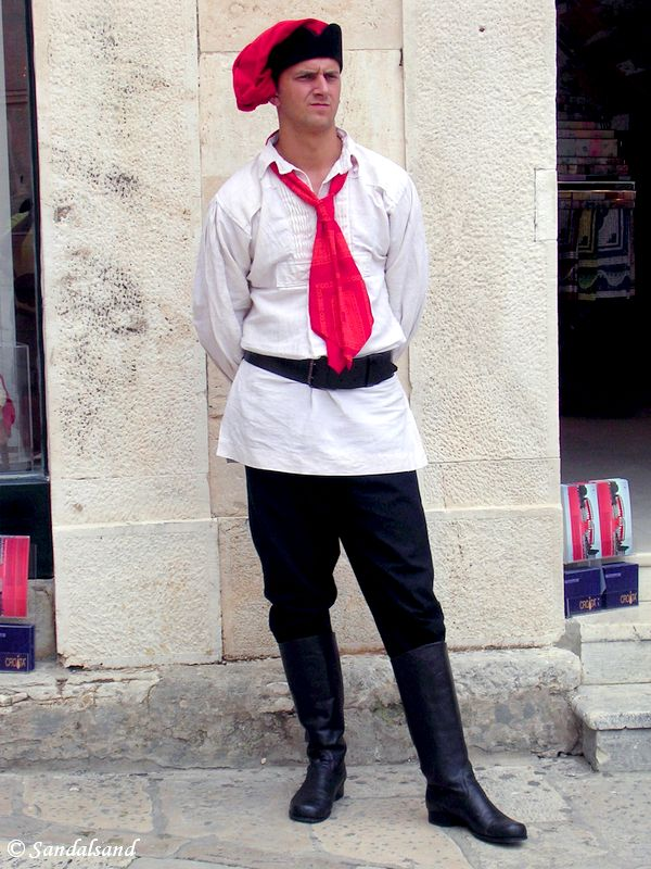 Croatia - Dubrovnik. Tie, or cravate in French, is derived from its origin - croatia