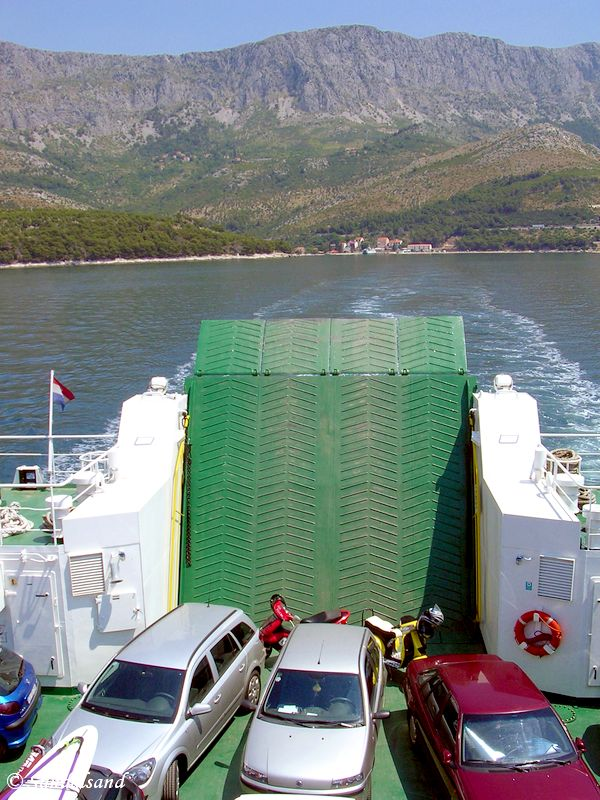 Croatia - Ferry from mainland to Hvar, Drvenik in the background